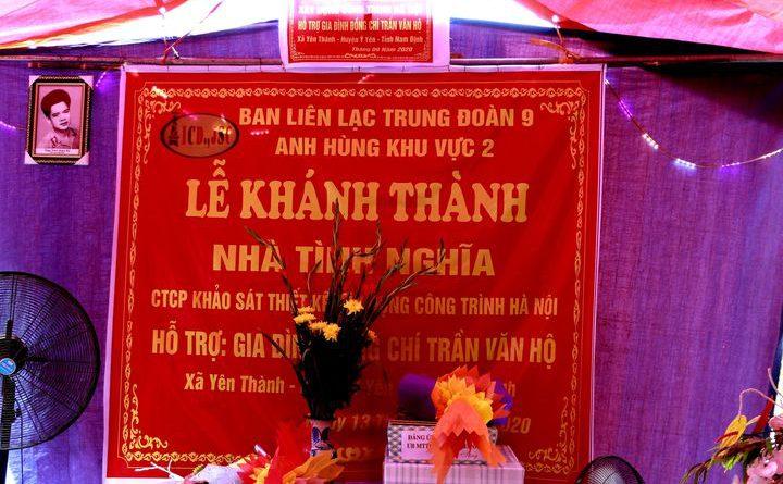 Trao tặng nhà tình nghĩa tại Yên Thành, Ý Yên