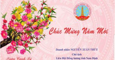 Thư chúc Tết của Chủ tịch Liên hội đồng hương Nam Định các tỉnh thành